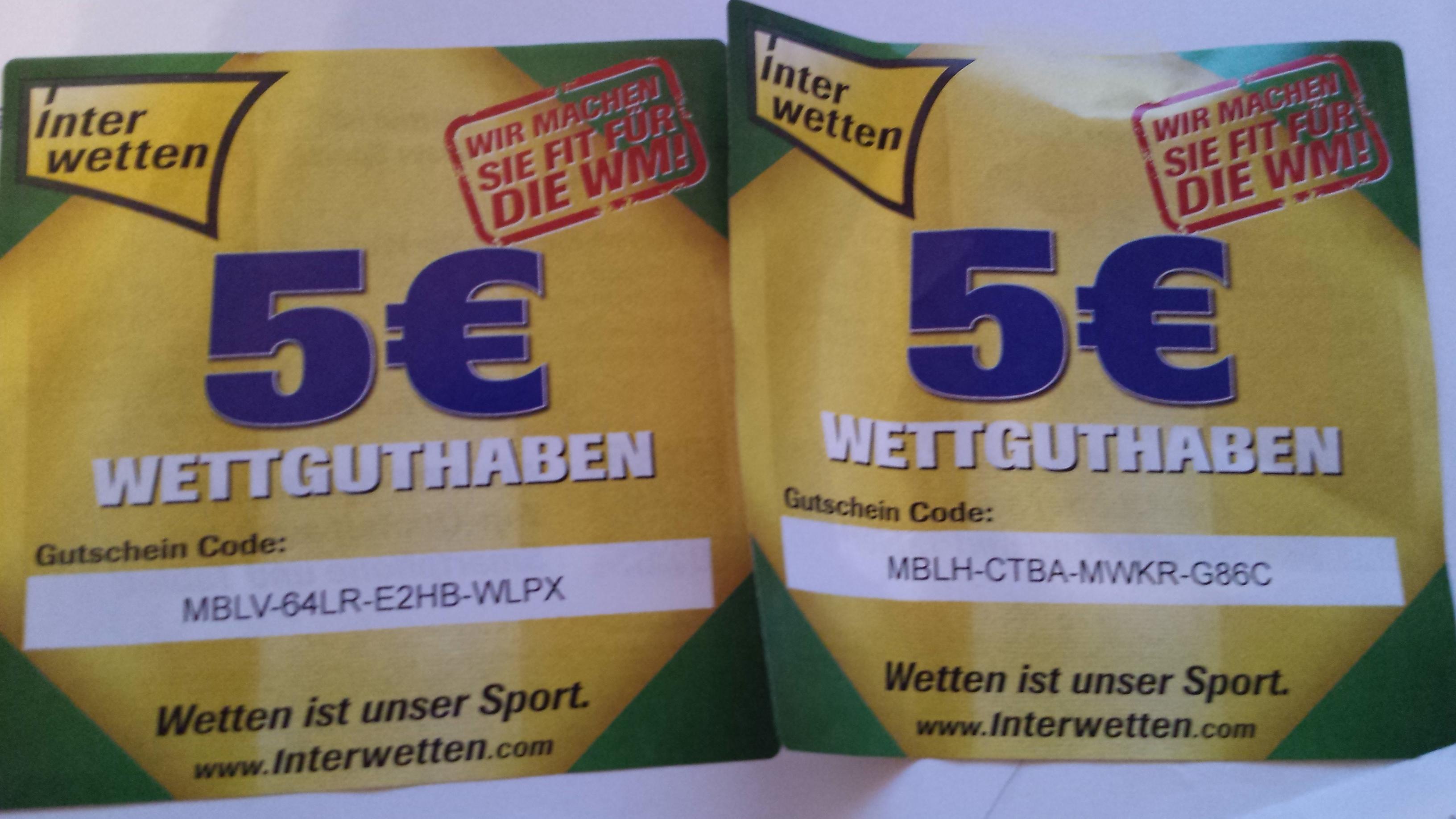 interwetten 5 euro gutschein